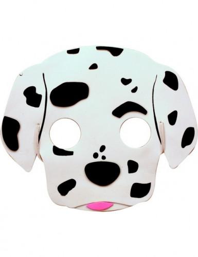 Schwarz-weiße Dalmatiner-Maske für Kinder