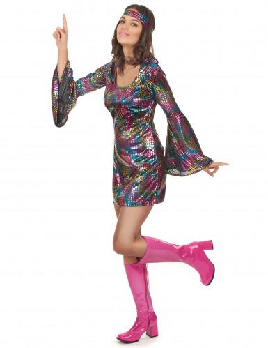 70er-Jahre Disco-Outfit für Damen bunt-1