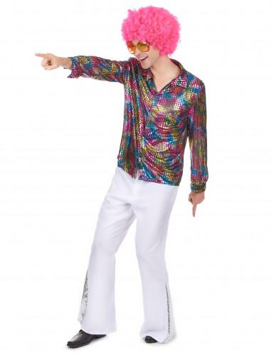 Disco-Hemd Kostüm für Herren-1
