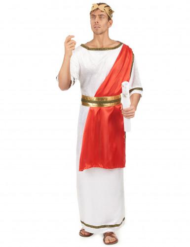 Römisches Senatskostüm für Herren weiss-rot-goldfarben