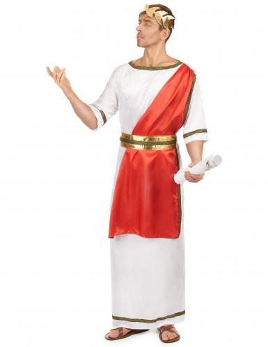 Römisches Senatskostüm für Herren weiss-rot-goldfarben-1