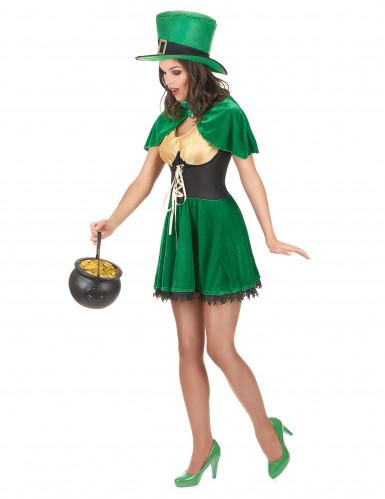 St. Patrick Leprechaun Kostüm für Damen-1
