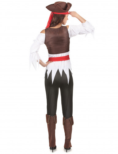 Piratin-Damenkostüm für Karneval bunt-2