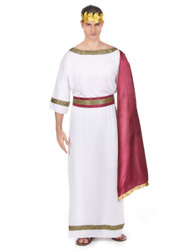 Griechischer Kaiser Herrenkostüm weiss-rot-goldfarben