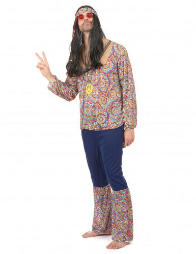 Retro Hippie Kostüm für Herren-1