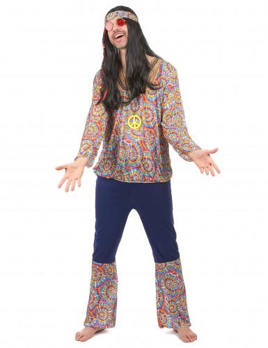 Retro Hippie Kostüm für Herren