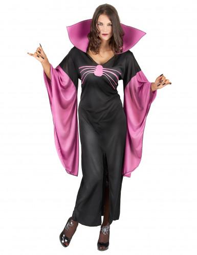 Spinnenköniginnen-Kostüm für Damen schwarz-pink