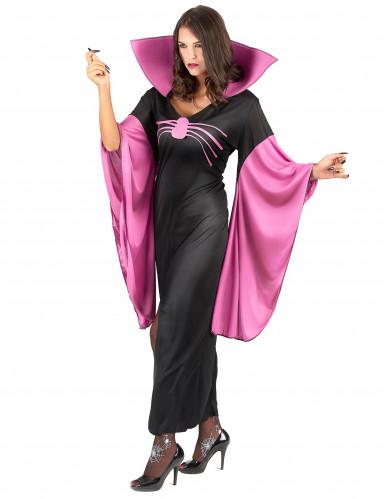 Spinnenköniginnen-Kostüm für Damen schwarz-pink-1