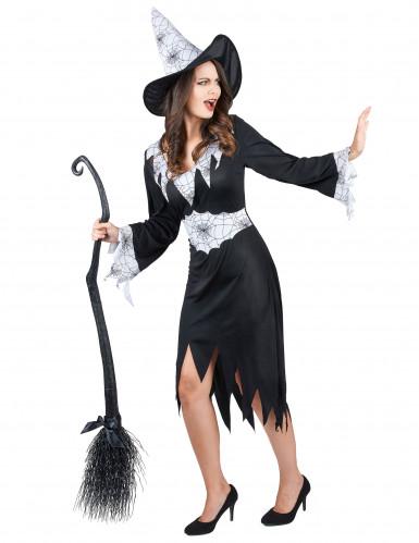 Hexen-Verkleidung schwarz-weiß für Damen-1