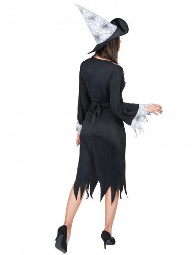 Hexen-Verkleidung schwarz-weiß für Damen-2