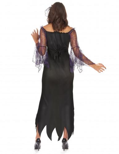 Spinnenkönigin Damenkostüm schwarz-violett-2