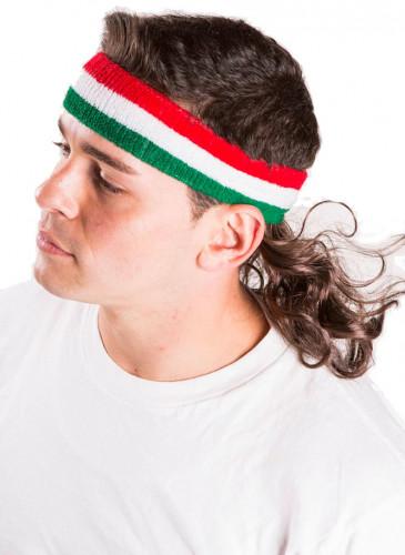 Vokuhila Stirnband grün weiß rot Mulletonthego™-1