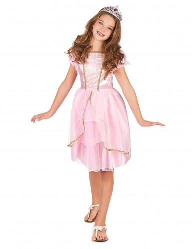 Prinzessinnen-Kostüm in Pink für Mädchen