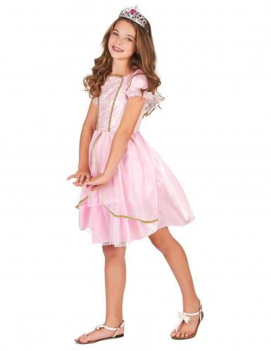 Prinzessinnen-Kostüm in Pink für Mädchen-1