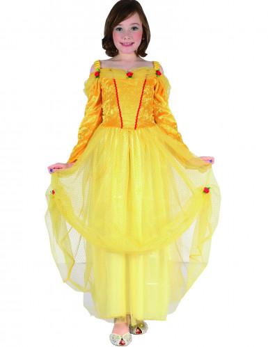 Gelbes Prinzessin Kostüm für Mädchen