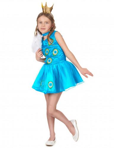 Pfau Kostümkleid für Mädchen-1