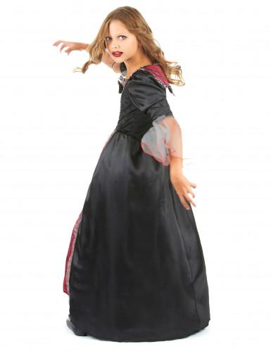 Rot-schwarzes Vampirkostüm für Mädchen-2