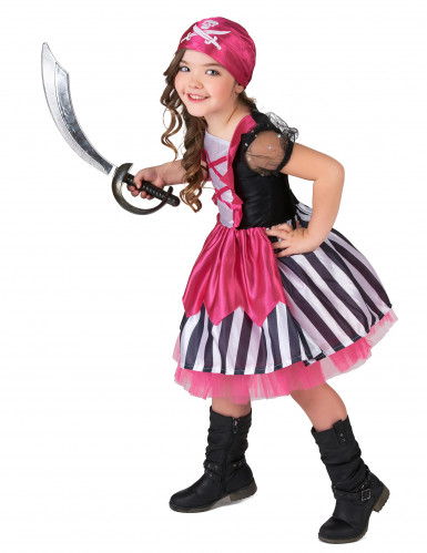 Rosa Piratenkostüm für Mädchen-1