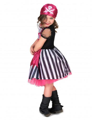 Rosa Piratenkostüm für Mädchen-2