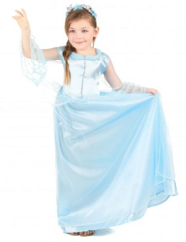 Blaues Prinzessin Kostüm für Mädchen-1