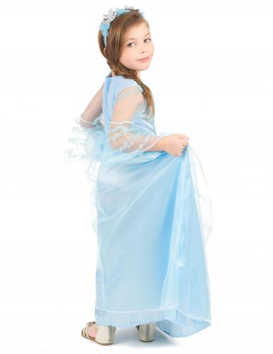 Blaues Prinzessin Kostüm für Mädchen-2