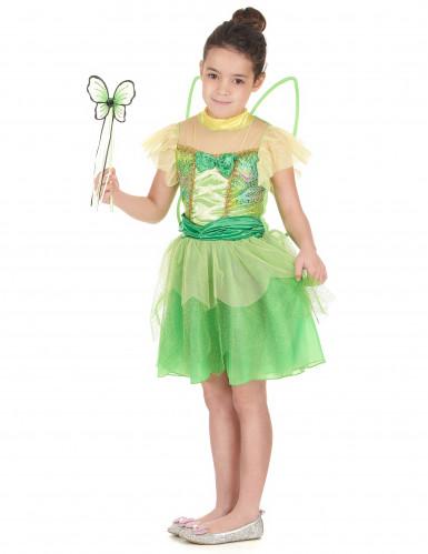 Grünes Fee Kostüm für Mädchen-1