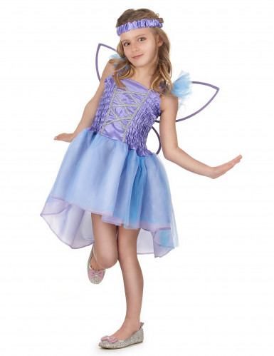Lila Fee Kostüm für Mädchen-1