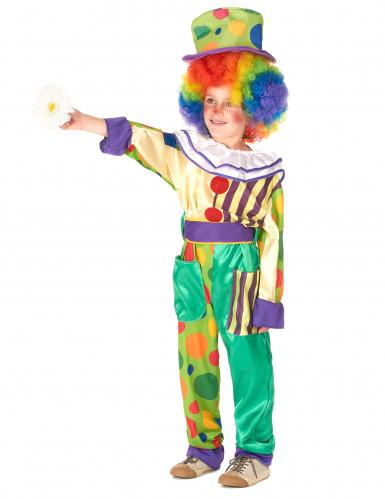 Lustiges Clown Kostüm für Jungen bunt-1