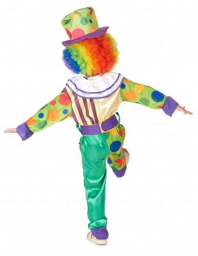 Lustiges Clown Kostüm für Jungen bunt-2