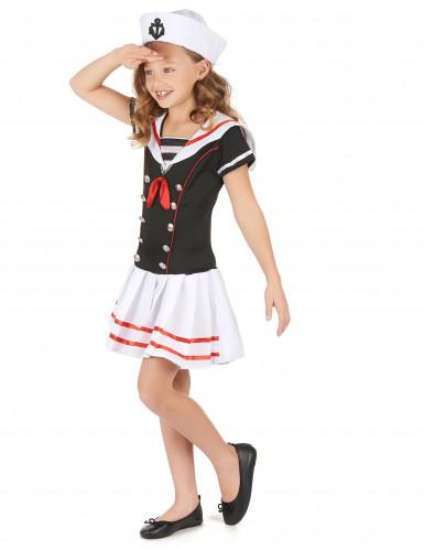 Matrosenkostüm für Mädchen Seefahrerin blau-weiss-rot-1