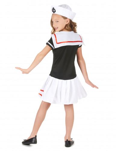 Matrosenkostüm für Mädchen Seefahrerin blau-weiss-rot-2