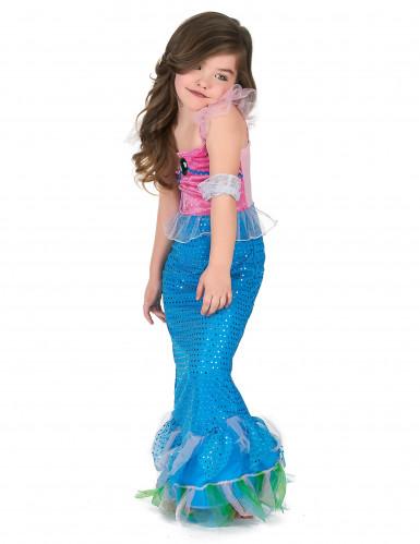 Meerjungfrau Kostüm für Mädchen blau-rosa-1
