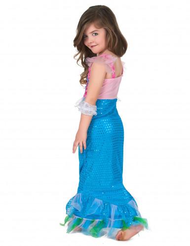 Meerjungfrau Kostüm für Mädchen blau-rosa-2