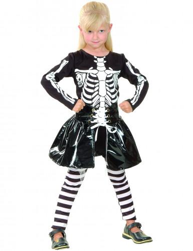 Knochengerüst-Kostüm für Mädchen