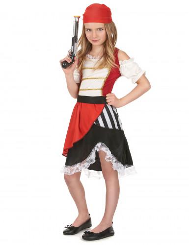 Piraten-Kostüm für Mädchen bunt-1
