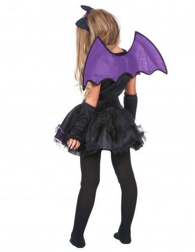 Fledermauskostüm lila für Mädchen Halloween-2