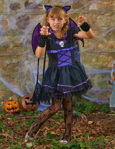 Fledermauskostüm lila für Mädchen Halloween-3
