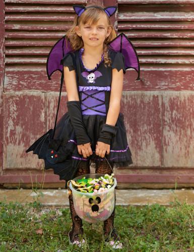 Fledermauskostüm lila für Mädchen Halloween-4