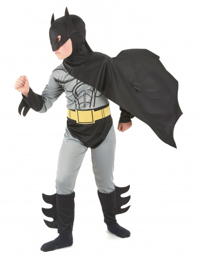 Superhelden Kostüm Fledermaus für Kinder schwarz-grau-1