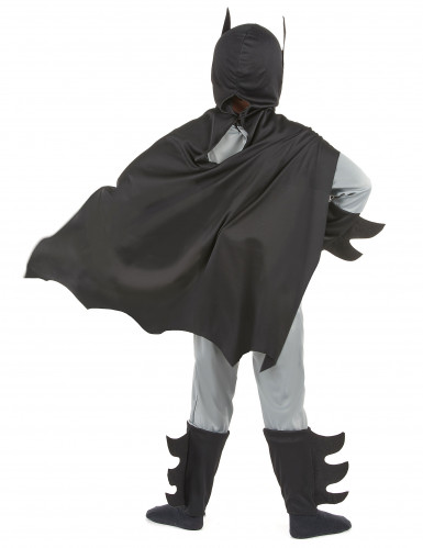 Superhelden Kostüm Fledermaus für Kinder schwarz-grau-2