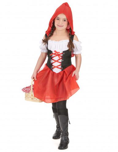 Rotkäppchen Kostüm für Mädchen schwarz-weiss-rot