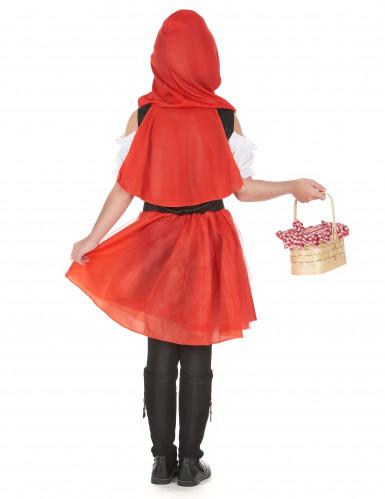 Rotkäppchen Kostüm für Mädchen schwarz-weiss-rot-2