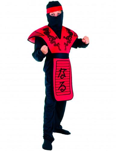 Rotes Ninja-Drachen Kostüm für Jungen