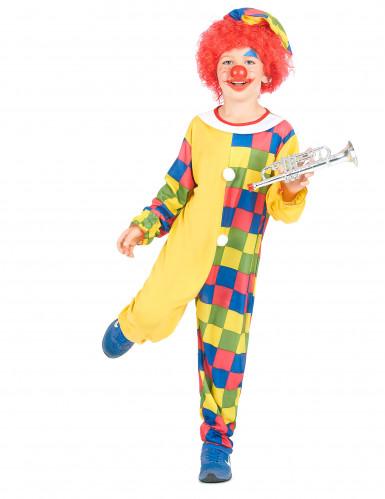Clownskostüm-Overall für Jungen bunt