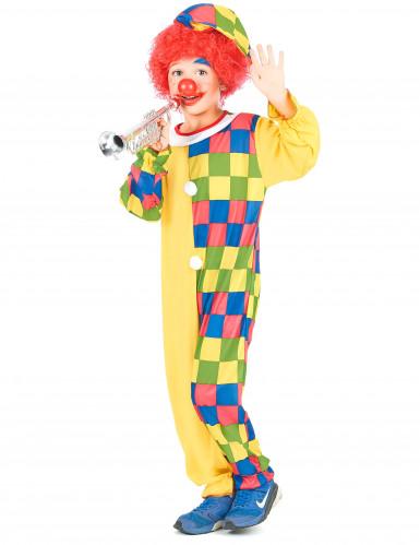 Clownskostüm-Overall für Jungen bunt-1