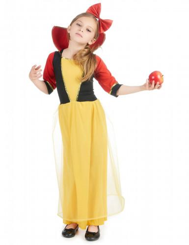 Märchen-Prinzessin Kostüm für Mädchen blau-gelb-rot