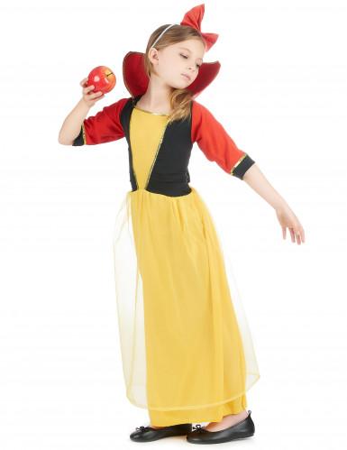 Märchen-Prinzessin Kostüm für Mädchen blau-gelb-rot-1