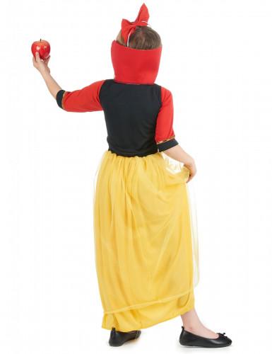 Märchen-Prinzessin Kostüm für Mädchen blau-gelb-rot-2