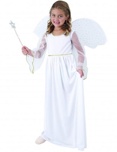 Weißes Engel Kostüm für Mädchen