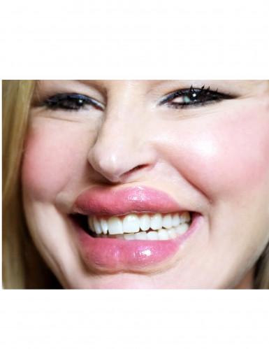 Dicke Lippen als Abziehbild mit Wasser Premiumqualität